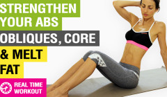 3 Min Ab Workout – 5 At Home Exercises